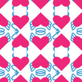 Seamless pattern for Valentine's day Stock Images