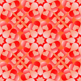 Seamless pattern for Valentine's Day with white and red gradient hearts on orange background Royalty Free Stock Photography