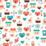 Seamless pattern for Valentines day, date and wedd. Ings for textiles, interior design, for book design, website background Stock Illustration