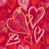 Seamless pattern on Valentines Day with hearts Stock Photography