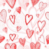 Seamless pattern on Valentines Day with hearts Royalty Free Stock Images