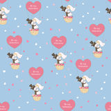 Seamless pattern for Valentines Day Stock Images