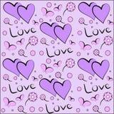 Seamless pattern Valentines day Stock Photo