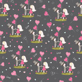 Seamless pattern for Valentines Day Stock Photos
