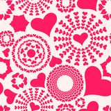 Seamless pattern. Valentines Hea Royalty Free Stock Image