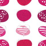 Seamless pattern of valentines hearts Royalty Free Stock Image