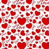 Seamless pattern with valentines hearts Royalty Free Stock Photo