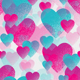 Seamless pattern with valentines hearts Royalty Free Stock Images