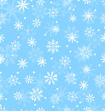 Seamless Pattern with Variation Snowflakes Royalty Free Stock Images