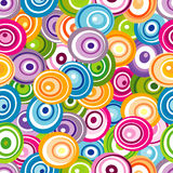 Seamless pattern with varicolored circles Stock Photo