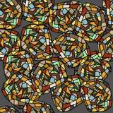 Seamless pattern. Varicolored seamless pattern with gemstones stock illustration