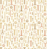 Seamless pattern with variety of screw Stock Photography