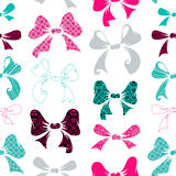 Seamless pattern of various bows Royalty Free Stock Photos