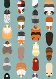 Seamless pattern of various guinea pig. Seamless pattern of various breeds of guinea pigs on blue backgrounds stock illustration