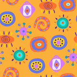 Seamless pattern with various elements Royalty Free Stock Photos