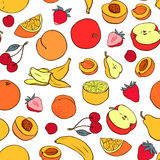 Seamless pattern with various fruit Royalty Free Stock Images