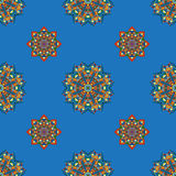 Seamless pattern with various Oriental motifs and elements. Seamless pattern with elements of Mandala style Royalty Free Stock Photos