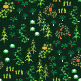 Seamless vegetable garden pattern. A seamless pattern with various vegetables Royalty Free Stock Photography