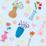 Seamless pattern with vases Royalty Free Stock Photo