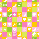 Seamless pattern. Vector. Child seamless pattern. Vector illustration Stock Photo