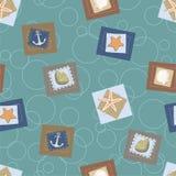 Seamless pattern. Vector. Marine seamless pattern. Vector illustration Stock Image