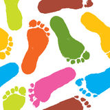 Seamless pattern, vector. Seamless pattern, prints of foots of the child, vector illustration Royalty Free Stock Images