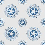Seamless pattern. Vector abstract background. Swirl shapes Royalty Free Stock Image