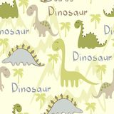 Seamless pattern. Vector art seamless pattern with Cartoon dinosaur Royalty Free Stock Images