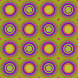 Seamless pattern, vector background with colored circles, web page background. Abstract background with a picture of a large, multi-colored circles on a green Stock Photo