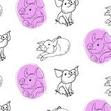 Vector drawing, funny piglets vector illustration