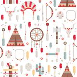 Seamless pattern of vector colorful ethnic set Royalty Free Stock Photo