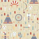 Seamless pattern of vector colorful ethnic set Stock Photos