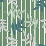 Seamless pattern vector of colorful flowers and leaves on green pastel tone, for textile, decoration and/or surface design. Beautiful floral pattern Stock Photo