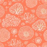 Seamless pattern with corals stock illustration