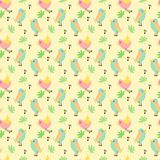Cute tiny bird on pastel colored background stock illustration