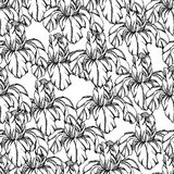 Seamless pattern.Vector decorative of iris flowers Royalty Free Stock Photography
