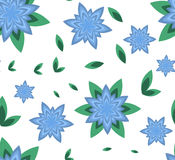 Seamless pattern vector flower azure Stock Photo