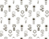 Seamless pattern vector flowers with background Stock Image