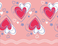Seamless pattern vector with heart Royalty Free Stock Images