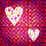Seamless pattern vector illustration colorful heart Stock Photos