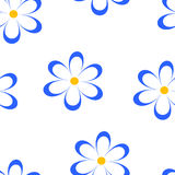 Seamless pattern. Vector illustration with flowers. Vintage flo Royalty Free Stock Photos