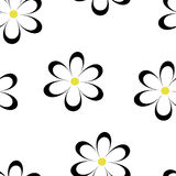 Seamless pattern. Vector illustration with flowers. Stock Images