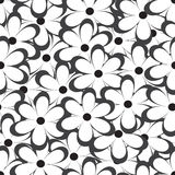 Seamless pattern. Vector illustration with flowers. Vintage floral print. Stock Image