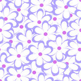 Seamless pattern. Vector illustration with flowers. Stock Photo