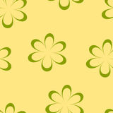 Seamless pattern. Vector illustration with flowers. Vintage floral print. Field of cute daisies. Textile design with chamomiles on yellow background. Spring or Stock Photography