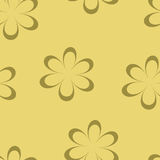 Seamless pattern. Vector illustration with flowers. Vintage floral print. Field of cute daisies. Textile design with chamomiles on yellow background. Spring or Stock Image