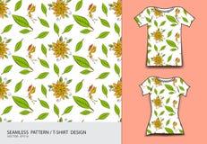 Seamless pattern vector illustration, T-shirt design, Cute little fairy cartoon, angel, Comics in fairy tales, fabric texture. Fashion wear, clothing, Fantasy Stock Photo