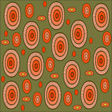 Seamless  Pattern. Vector seamless  pattern with orange ovals Royalty Free Stock Photography