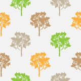 Seamless pattern, vector repeating illustration, decorative ornamental stylized endless trees. Abstract background, seamles graphi. C illustration Artistic line royalty free illustration