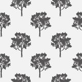 Seamless pattern, vector repeating illustration, decorative ornamental stylized endless trees. Abstract background, seamles graphi. C illustration Artistic line Stock Photos